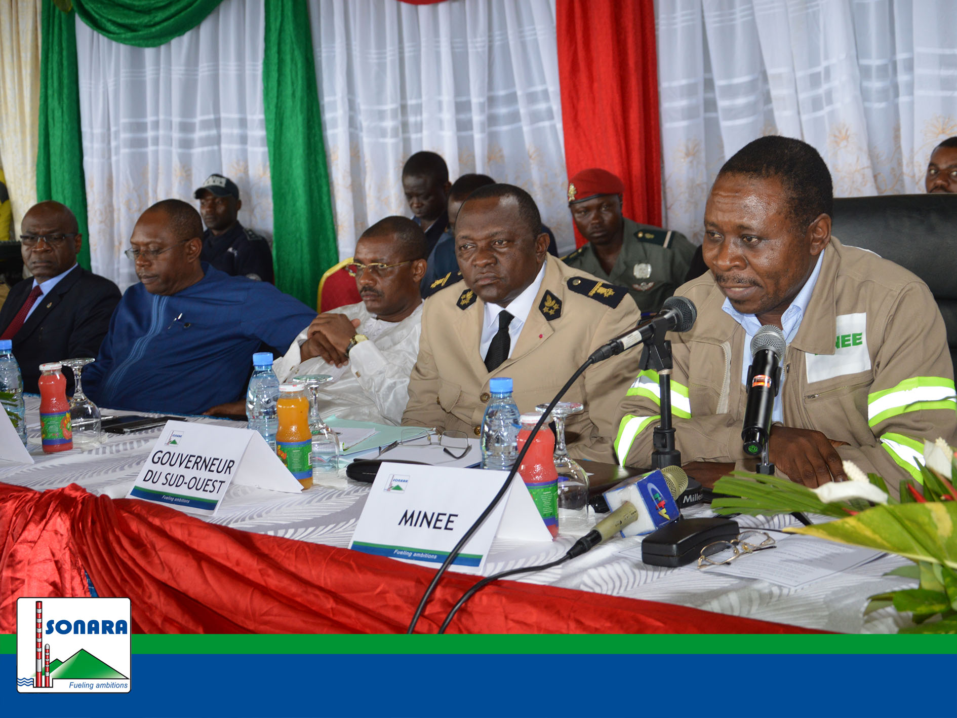 Interministerial team of the Government at SONARA